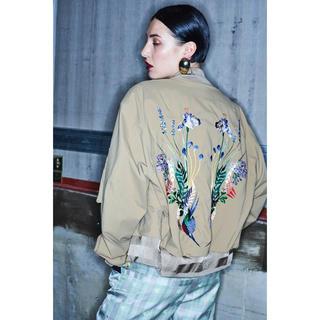 マメ(mame)の希少!Mame Kurogouchi Embroidery MA-1 ジャケット(ブルゾン)