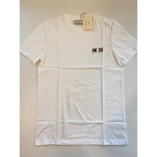 メゾンキツネ(MAISON KITSUNE')の【Sサイズ】新品 メゾンキツネ Maison Kitsune Tシャツ ホワイト(Tシャツ/カットソー(半袖/袖なし))