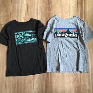 patagonia - パタゴニアキッズロゴTシャツ②枚セットパタロハ日本未発売