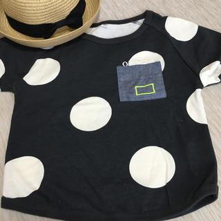 シマムラ(しまむら)のしまむら*美品❣️キッズドットTシャツ 110 韓国子供服(Tシャツ/カットソー)