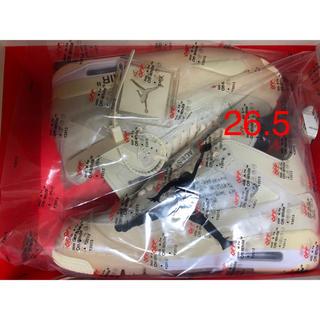 ナイキ(NIKE)のNIKE エアジョーダン4 off-white 26.5cm(スニーカー)