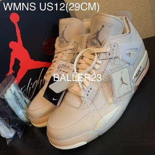 NIKE - 希少29CM OFF WHITE NIKE AJ4 SAIL WMNS US12