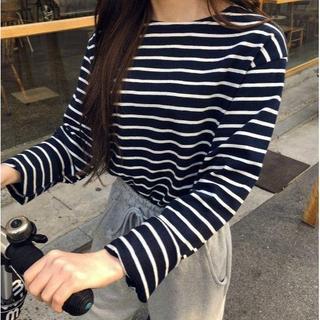 ゴゴシング(GOGOSING)のG191新品*)gogosingハニーボーダートップス(Tシャツ(長袖/七分))