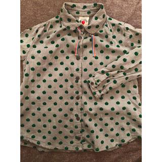 レディーアップルシード(REDDY APPLESEED)の美品!!1度のみ!! レディアップルシード  女の子 シャツ 130(Tシャツ/カットソー)