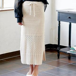 神戸レタス - 新品神戸レタス透かし編みニットスカート