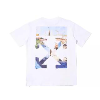 OFF-WHITE - Off white オフホワイト ホワイト色 Tシャツ Lサイズ