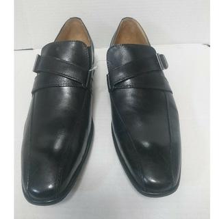 メンズ 本革 靴  ジョルジオマッソーニ 24.5cm ブラック 未使用(ドレス/ビジネス)
