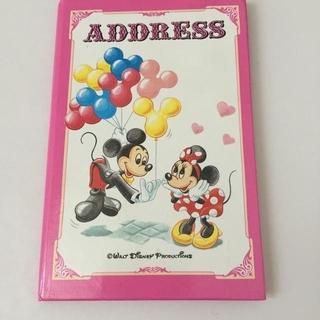 Disney - ディズニーランド  アドレス帳   レトロ ミッキー  ミニー バルーン
