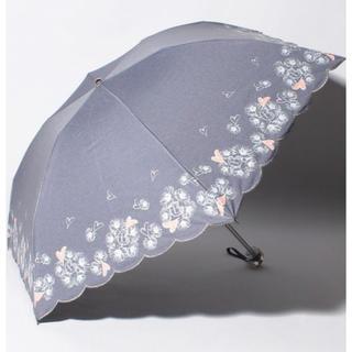 ランバンオンブルー(LANVIN en Bleu)のLANVIN en Bleu 晴雨兼用折りたたみ傘 フラワー ハート(傘)