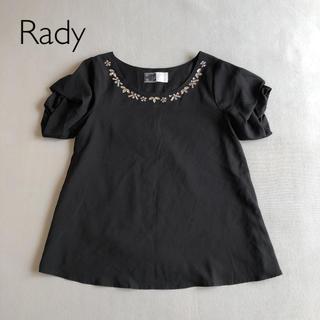 レディー(Rady)のレディー ブラウス カットソー ブラック(シャツ/ブラウス(半袖/袖なし))