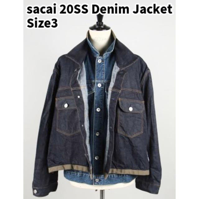 sacai(サカイ)のsacai 20SS デニム ジャケット Gジャン 2nd 3rd アウター メンズのジャケット/アウター(Gジャン/デニムジャケット)の商品写真