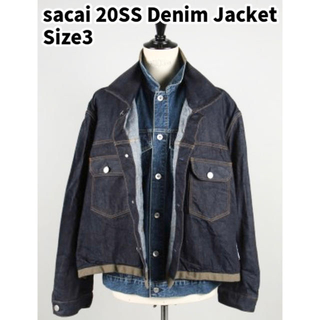 sacai - sacai 20SS デニム ジャケット Gジャン 2nd 3rd アウター