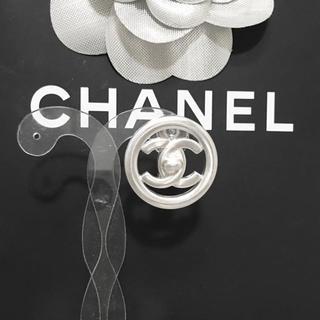 CHANEL - 正規品 シャネル イヤリング 片方 ターンロック ココマーク シルバー 丸 ロゴ