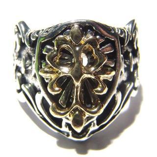 送料無料 クロスモチーフ 十字架 リング 指輪 ゴシック 22号 騎士 ナイト(リング(指輪))
