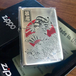 ZIPPO - 新品 Zippo 芸者 銀メッキ装飾 ジッポー