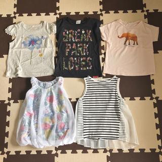 ザラ(ZARA)の半袖・ノースリーブカットソー&Tシャツ 5点セット☆110cm(Tシャツ/カットソー)