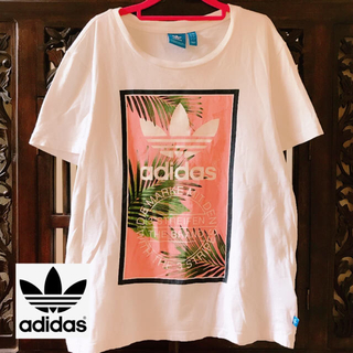 adidas - アディダス オリジナルス ビッグロゴ ピンク トロピカル タンクトップ Tシャツ