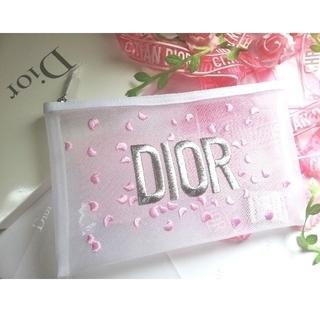 Dior - 【非売品💖限定】✨🌹DIOR 🌹刺繍&リボン柄メッシュポ~チ🌹【新品】