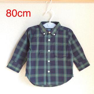 ベビーギャップ(babyGAP)のGap 80cm 男の子長袖シャツ (b80-31)(シャツ/カットソー)