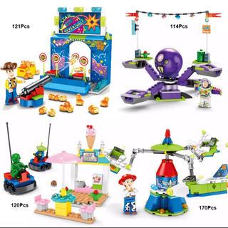 トイストーリー(トイ・ストーリー)のトイストーリー レゴ互換 遊園地 アトラクション 4セット(知育玩具)