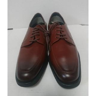 ムーンスター(MOONSTAR )の本革 靴 ビジネスシューズ ムーンスター 24.5cm ブラウン 未使用(ドレス/ビジネス)