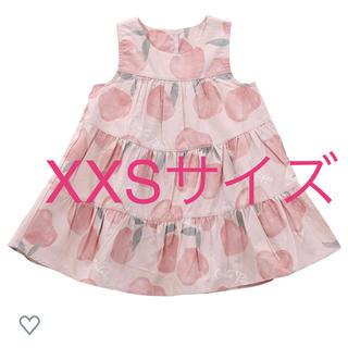 ジェラートピケ(gelato pique)のジェラートピケ キッズ フルーツモチーフ ドレス XXS ワンピース 定価以下(ワンピース)