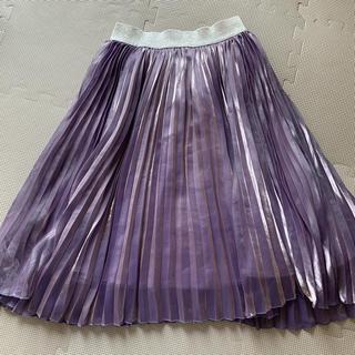 ANNA SUI mini - アナスイミニ シャイニープリーツスカート 150  パープル