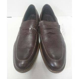 メンズ 本革 靴  ジョルジオマッソーニ 24.5cm ダークブラウン 未使用(ドレス/ビジネス)