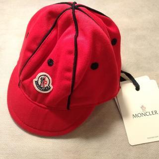 モンクレール(MONCLER)の【新品未使用】MONCLER モンクレール キャップ キッズ ロゴ レッド(帽子)