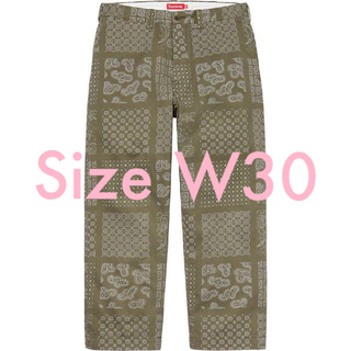 シュプリーム(Supreme)の新品W30 Supreme Paisley Grid Chino Pant(チノパン)