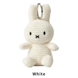 【ホワイト】ミッフィーコーデュロイキーホルダー(キャラクターグッズ)