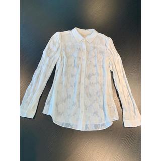 新品未使用 NYブランド 立体デイジーテクスチャーシルクコットンシャツ(シャツ/ブラウス(長袖/七分))