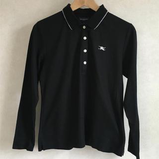 バーバリー(BURBERRY)のバーバリーゴルフ BURBERRY GOLF 長袖ポロシャツ ブラック(ポロシャツ)
