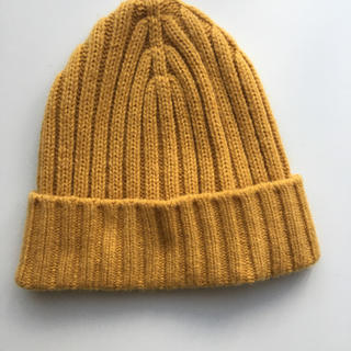 ユニクロ(UNIQLO)のユニクロ ニット帽 ヒートテックニット帽 イエロー(ニット帽/ビーニー)