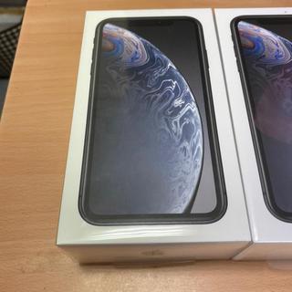 アイフォーン(iPhone)の【新品未開封】iPhone XR 64GB 黒 SIMフリー(スマートフォン本体)