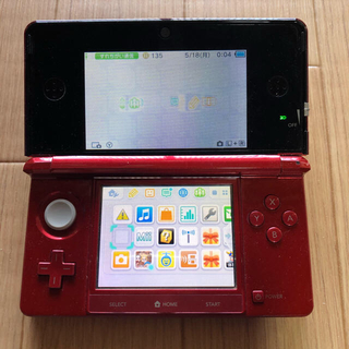 ニンテンドー3DS - 任天堂3DS  本体 赤