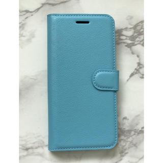 ギャラクシー(Galaxy)の日本版&人気商品☆GalaxyA30 シンプルレザー手帳型ケース ブルー 水色(Androidケース)