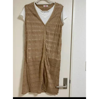 リュリュ(RyuRyu)のVネックTシャツ&レースジレ セット(Tシャツ/カットソー(半袖/袖なし))