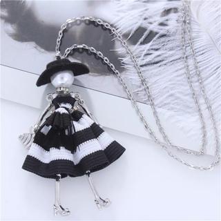 ◉訳あり  黒帽子お人形のネックレス◉