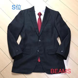 ビームス(BEAMS)の美品★ビームス×上質リネン生地 ブラックテーラードジャケット/春夏/A895(テーラードジャケット)