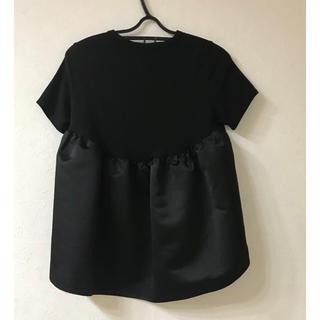 BARNEYS NEW YORK - YOKO CHAN バックコクーン Tシャツ カットソー   40  ブラック