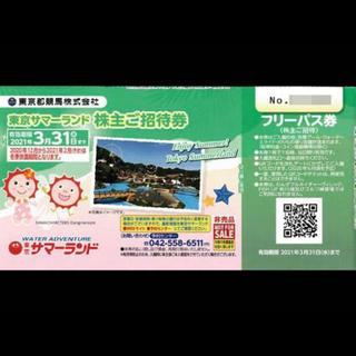1枚 東京サマーランド フリーパスチケットお盆も可能です。事前予約不要(プール)