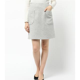 ドゥアルシーヴ(Doux archives)のポケット付 セミタイトスカート ひざ丈(ひざ丈スカート)