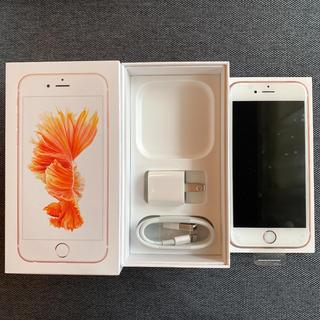 アイフォーン(iPhone)の美品/SIMフリー/iPhone6s/128GB/Rose Gold(スマートフォン本体)