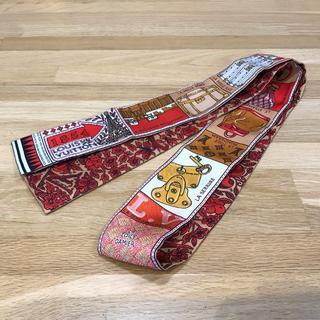 ルイヴィトン(LOUIS VUITTON)の新品未使用 ルイヴィトン 現行 バンドーBB ツイリー スカーフ レッド(バンダナ/スカーフ)