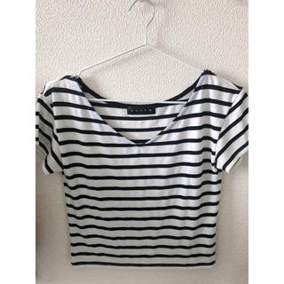 アンビー(ENVYM)のENVIM vネックボーダー Tシャツ(Tシャツ(半袖/袖なし))