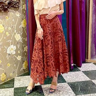 GRACE CONTINENTAL - グレースコンチネンタル カットワーク刺繍ロングスカート