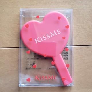 キスミーコスメチックス(Kiss Me)の手鏡 ハンドミラー 赤 ハート キスミー 新品 未使用 非売品(ミラー)