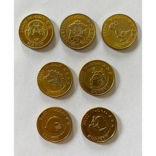 ニンテンドウ(任天堂)のスーパーマリオ コイン7種類 ゴールドメダル Nintendo 当時物1991年(キャラクターグッズ)