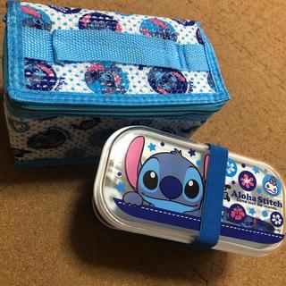 Disney - スティッチ 保冷バッグ付き 2段ランチボックス